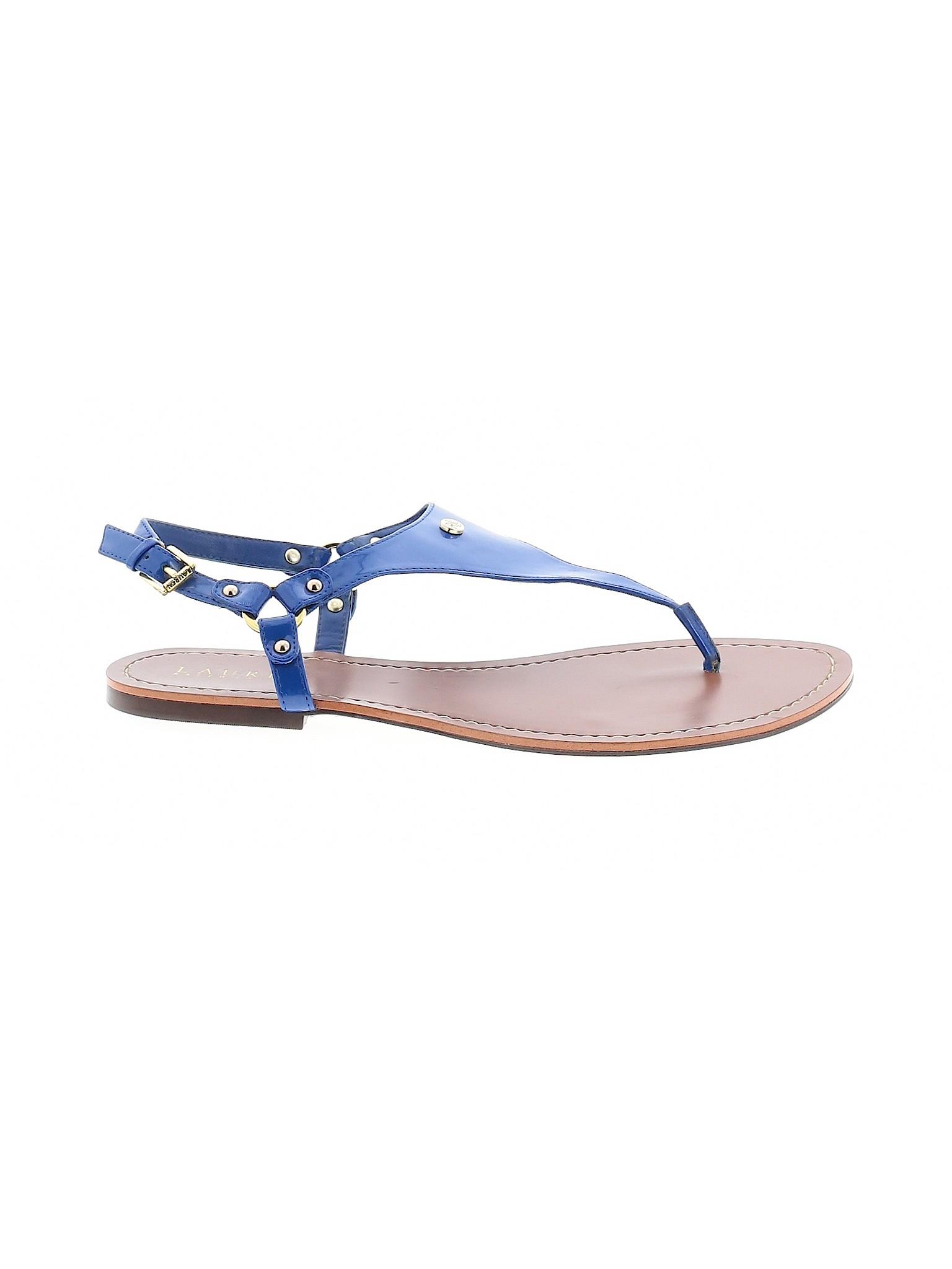 Ralph Lauren Women Blue Sandals