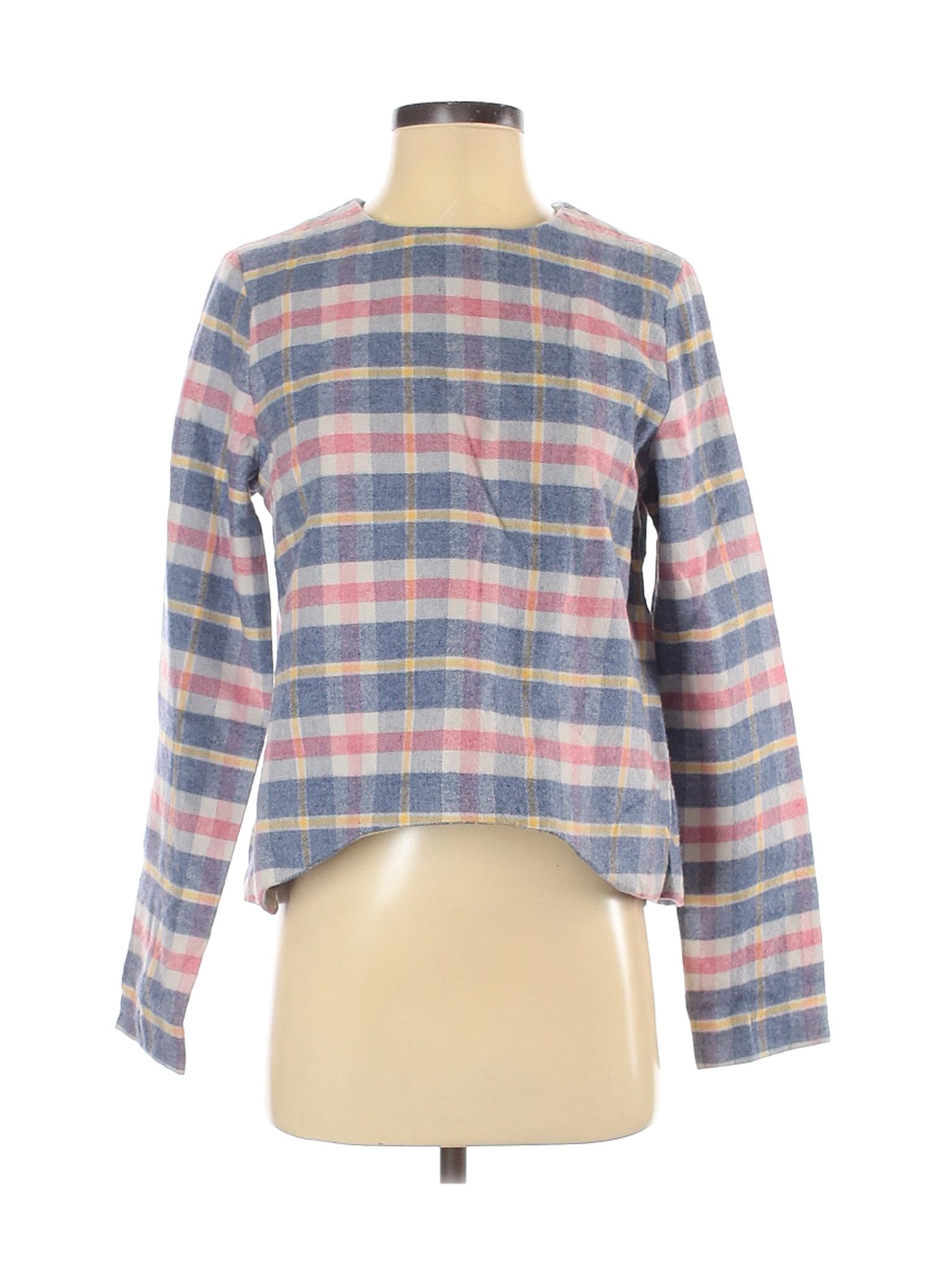 NWT Asilio Women Blue Long Sleeve Blouse S   eBay