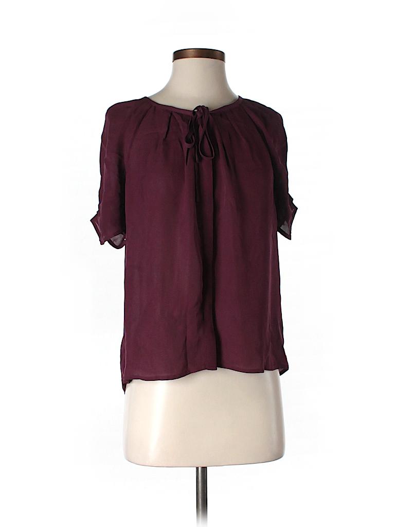 Joie Women Short Sleeve Silk Top Size S