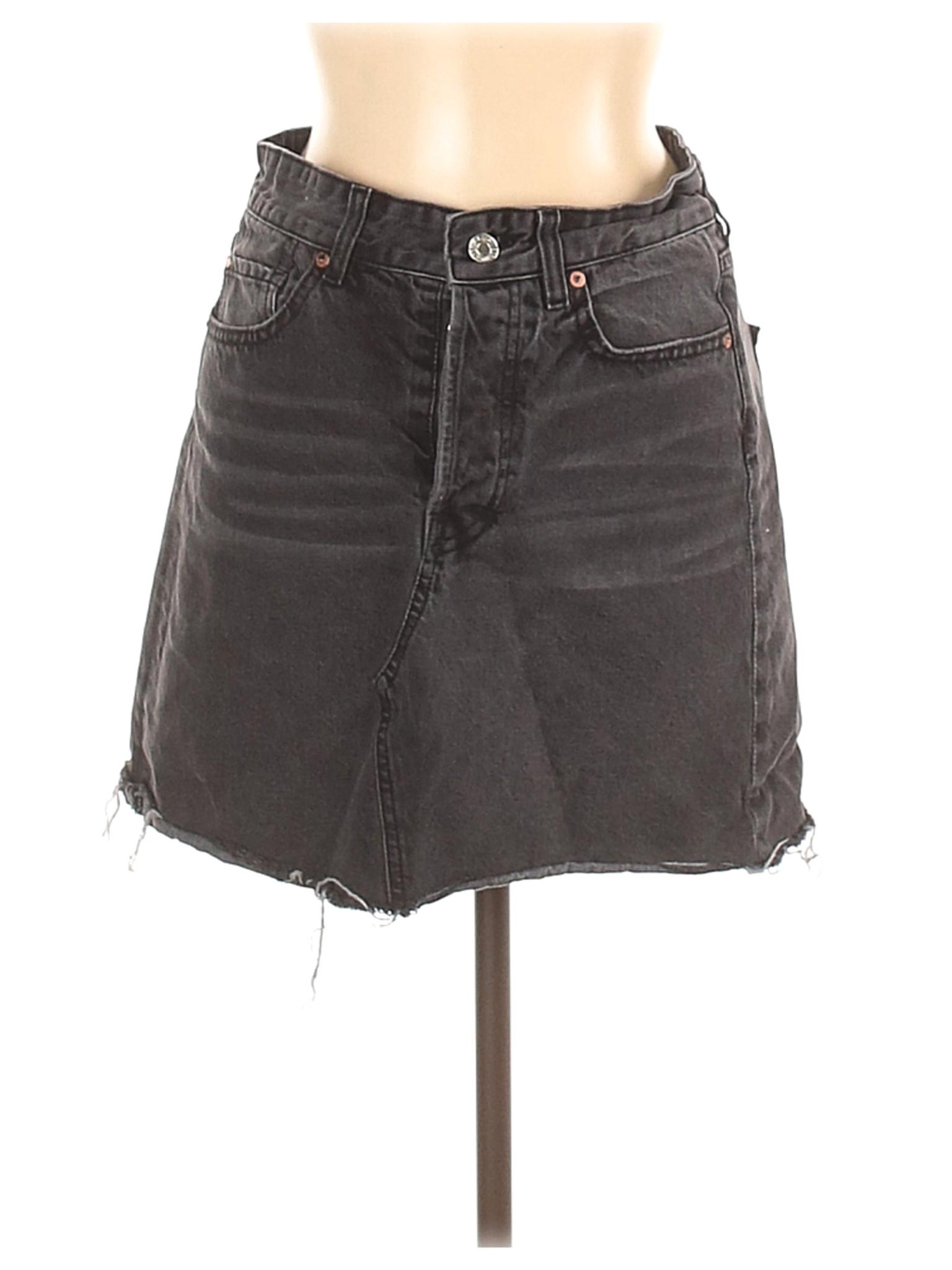 Download &Denim by H&M Women Gray Denim Skirt 6   eBay