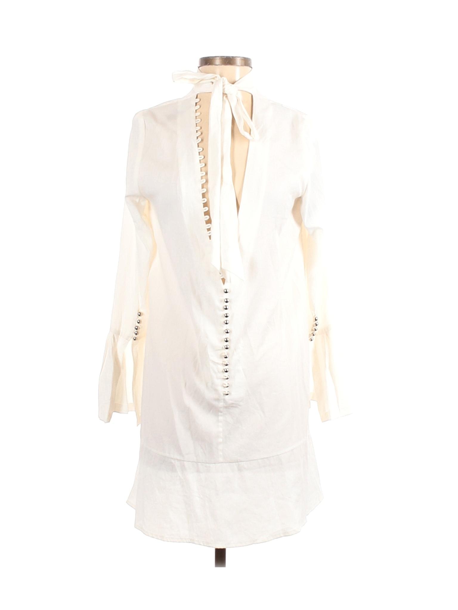 NWT Asilio Women White Casual Dress 4   eBay