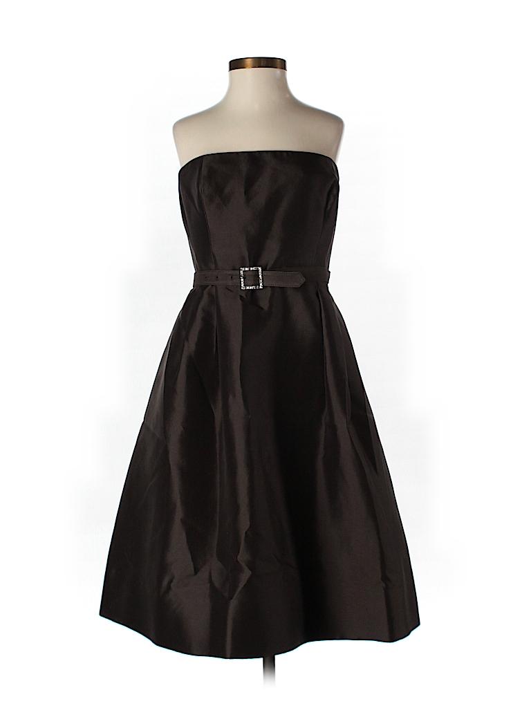 Teri Jon by Rickie Freeman Women Silk Dress Size 4