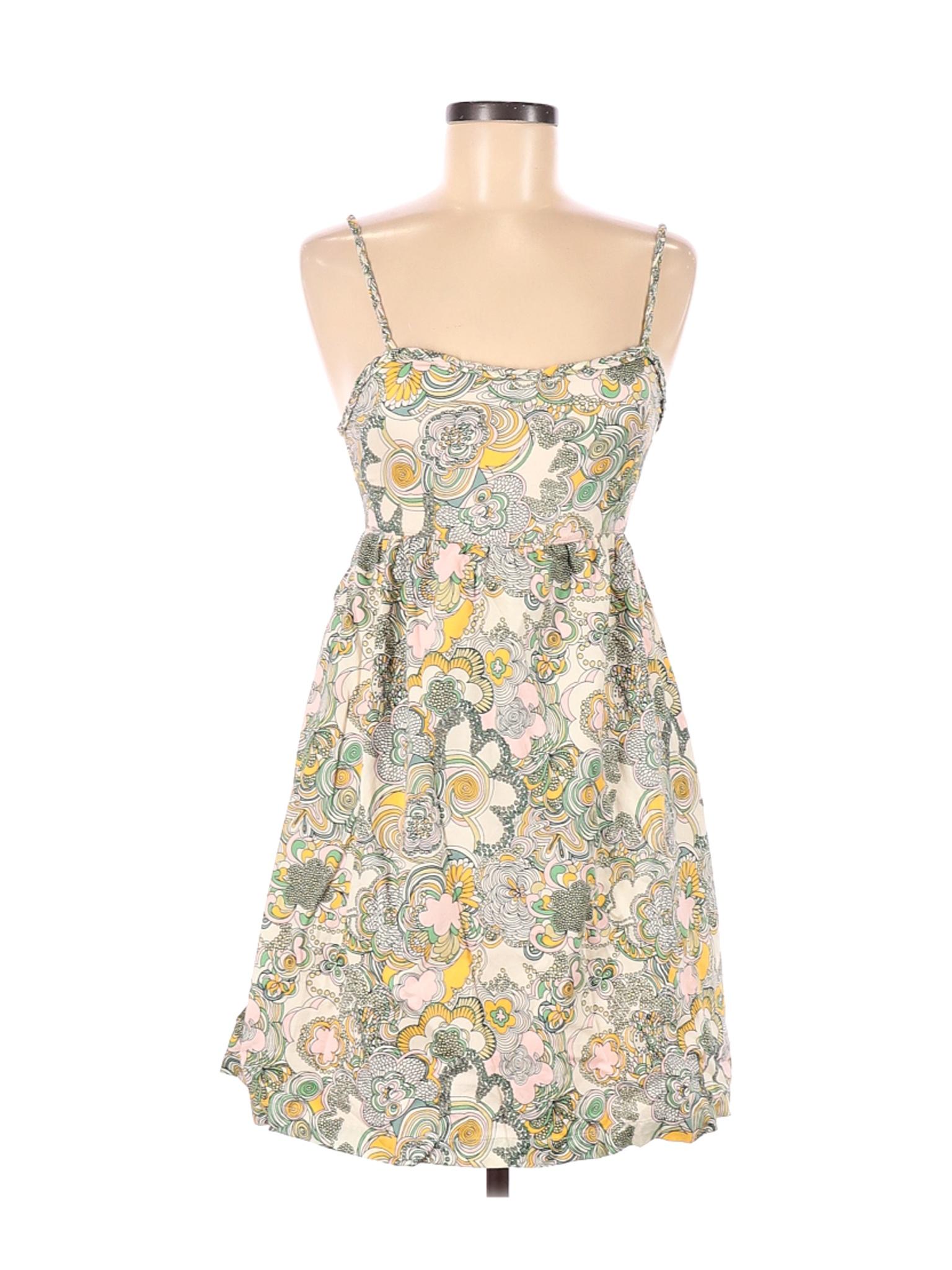 PAPER London Womens Montego Green Plaid Ruffles Casual Dress 0 BHFO 6671