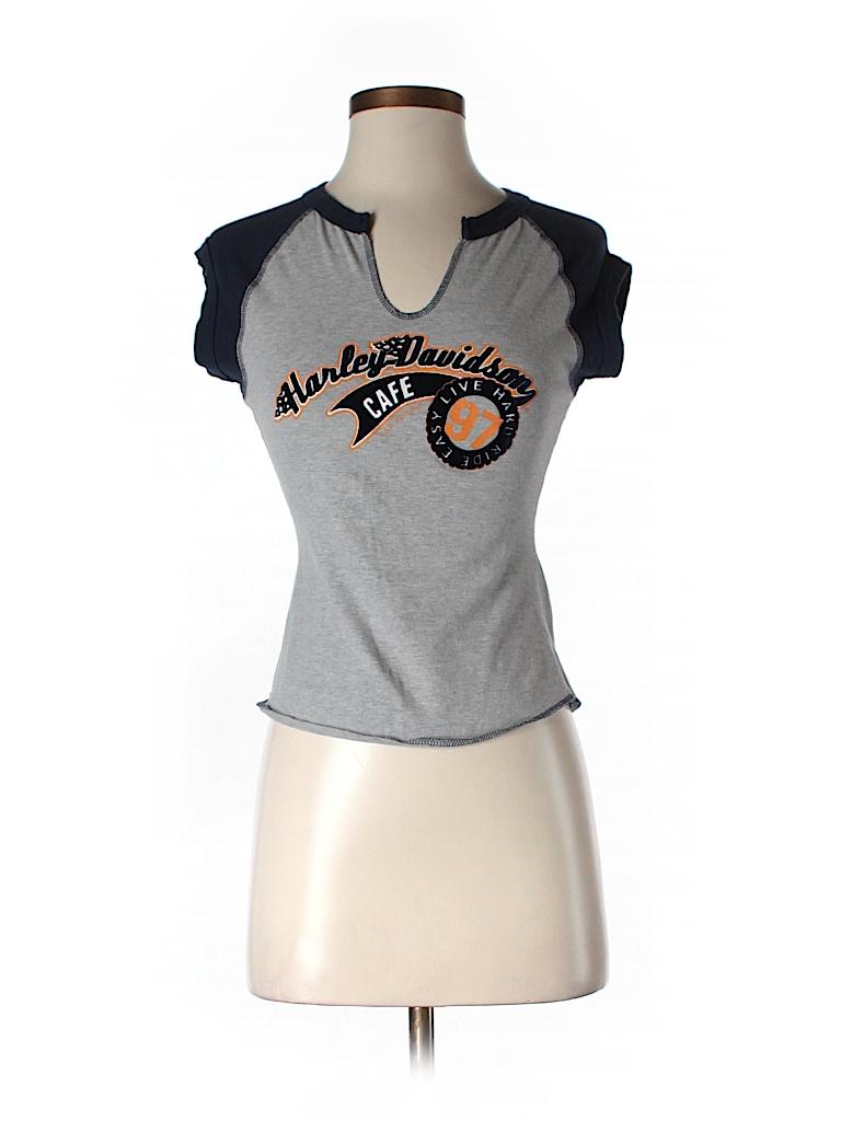 Harley Davidson Women Short Sleeve T-Shirt Size S
