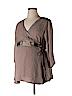 Belly Basics - Maternity Women 3/4 Sleeve Blouse Size XL (Maternity)