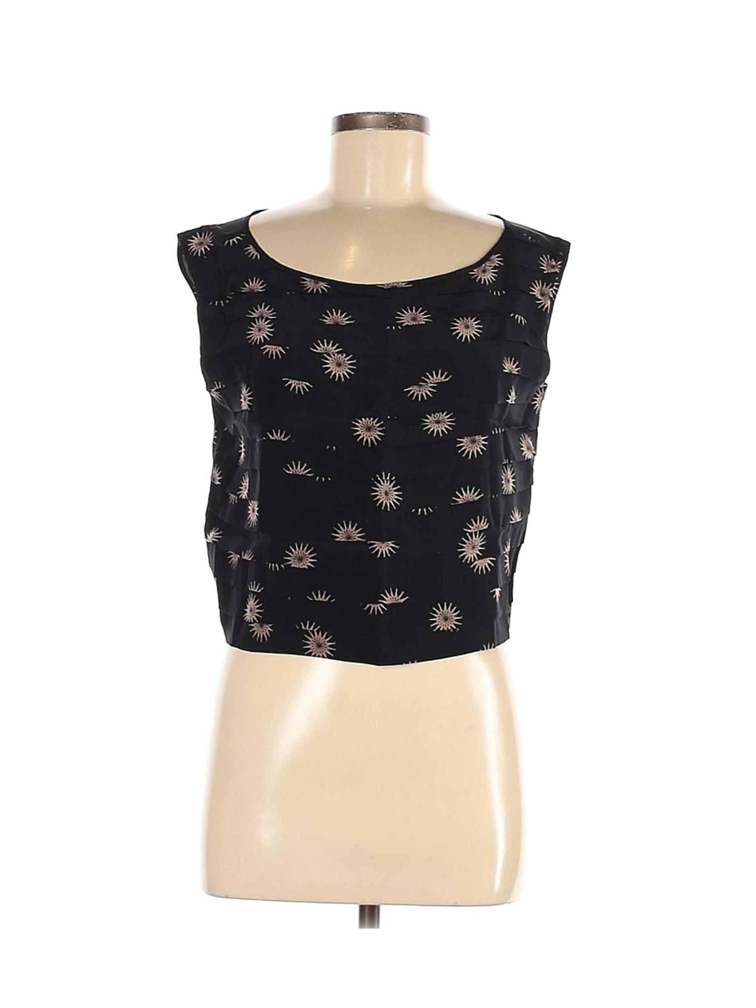 Size Medium 1990/'s-does-40/'s Cerruti 1881 silk pink and purple boxy sleeveless blouse