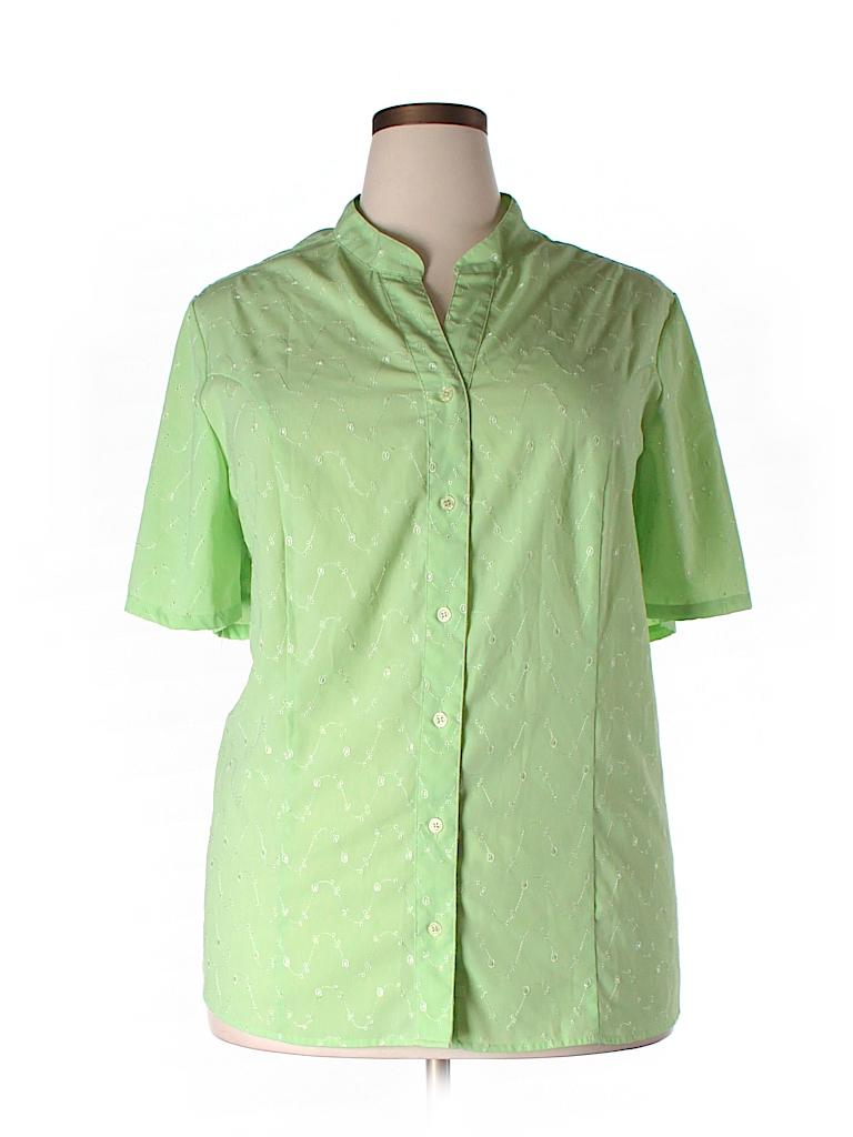 Maggie Barnes Short Sleeve Button Down Shirt 73 Off