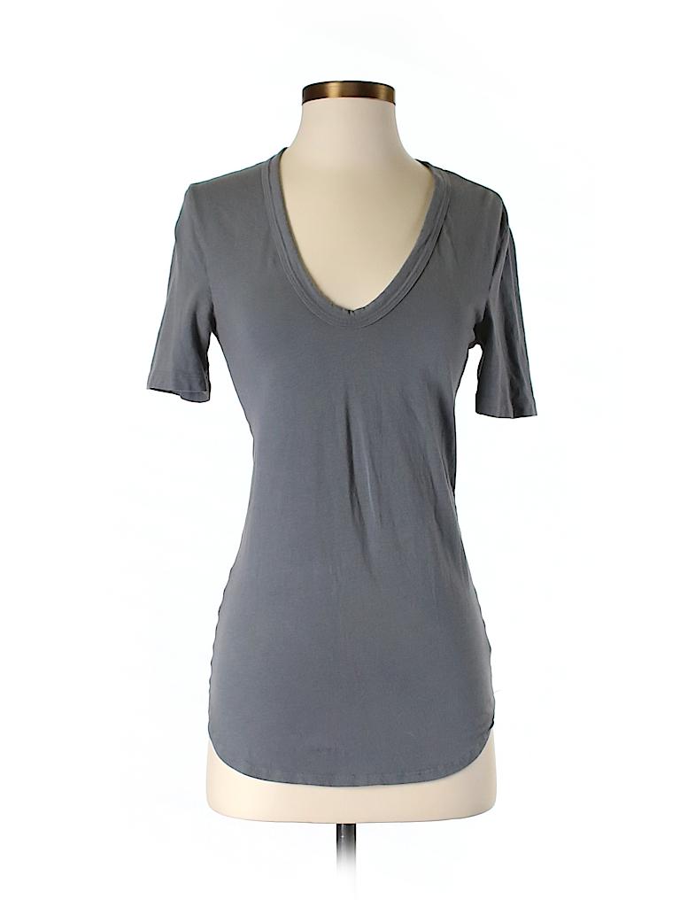 James Perse Women Short Sleeve T-Shirt Size XS