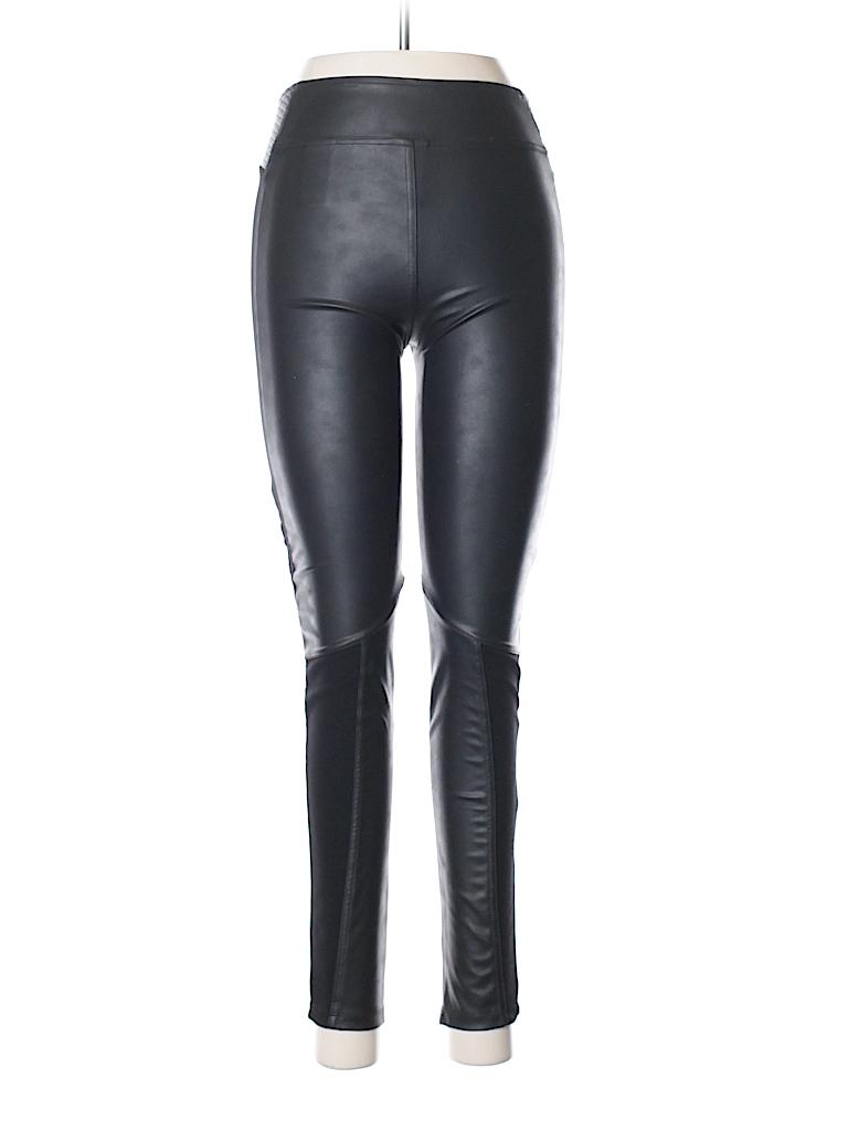 H&M Women Faux Leather Pants Size 6