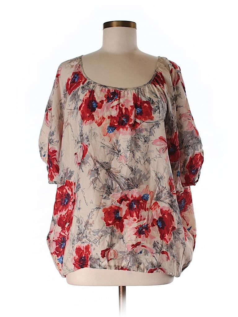 CAbi Women 3/4 Sleeve Silk Top Size M