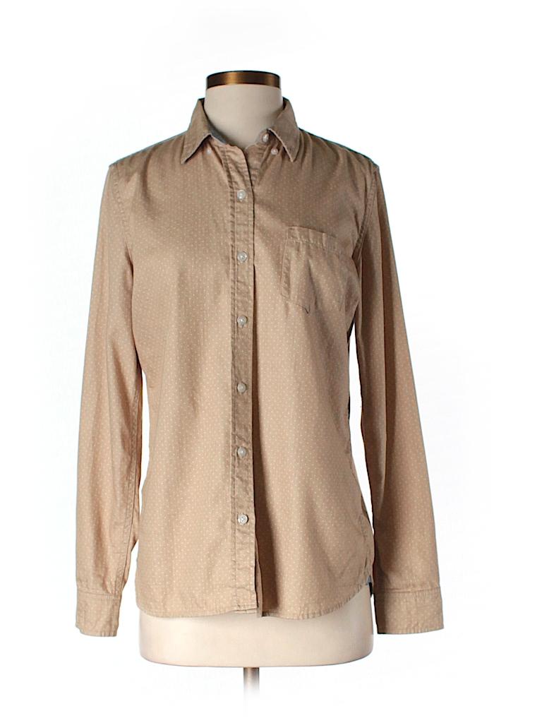 Johnston Murphy 100 Polyester Solid Tan Long Sleeve