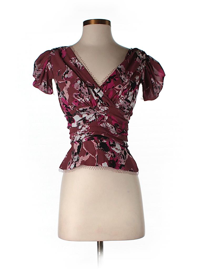 Karl Lagerfeld for Impulse Women Short Sleeve Blouse Size 2