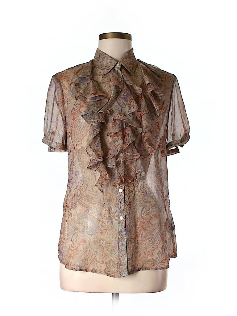 Lauren by Ralph Lauren Women Short Sleeve Blouse Size M