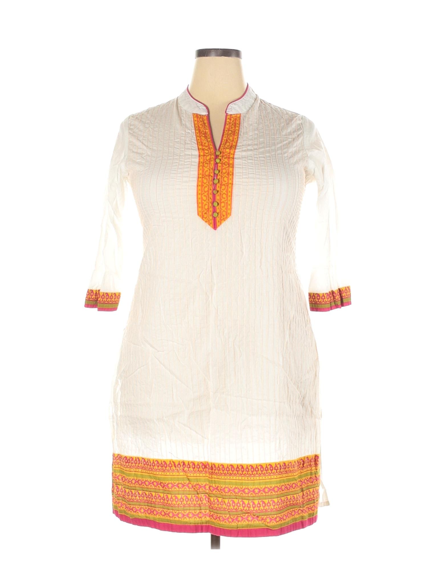 Stop Every Wear Women Ivory Casual Dress XXL   eBay