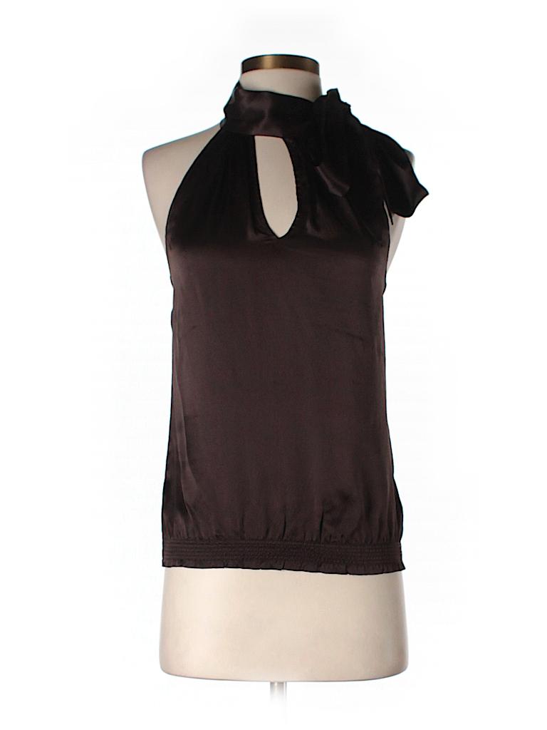 White House Black Market Women Sleeveless Silk Top Size 00