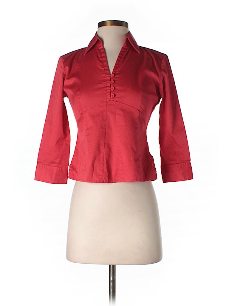 Ann Taylor Women 3/4 Sleeve Blouse Size XS (Petite)