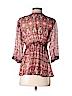 CAbi Women 3/4 Sleeve Silk Top Size XS