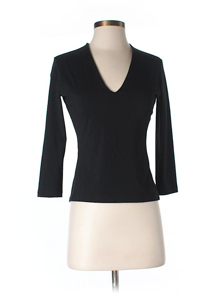 Susana Monaco Women Long Sleeve T-Shirt Size S