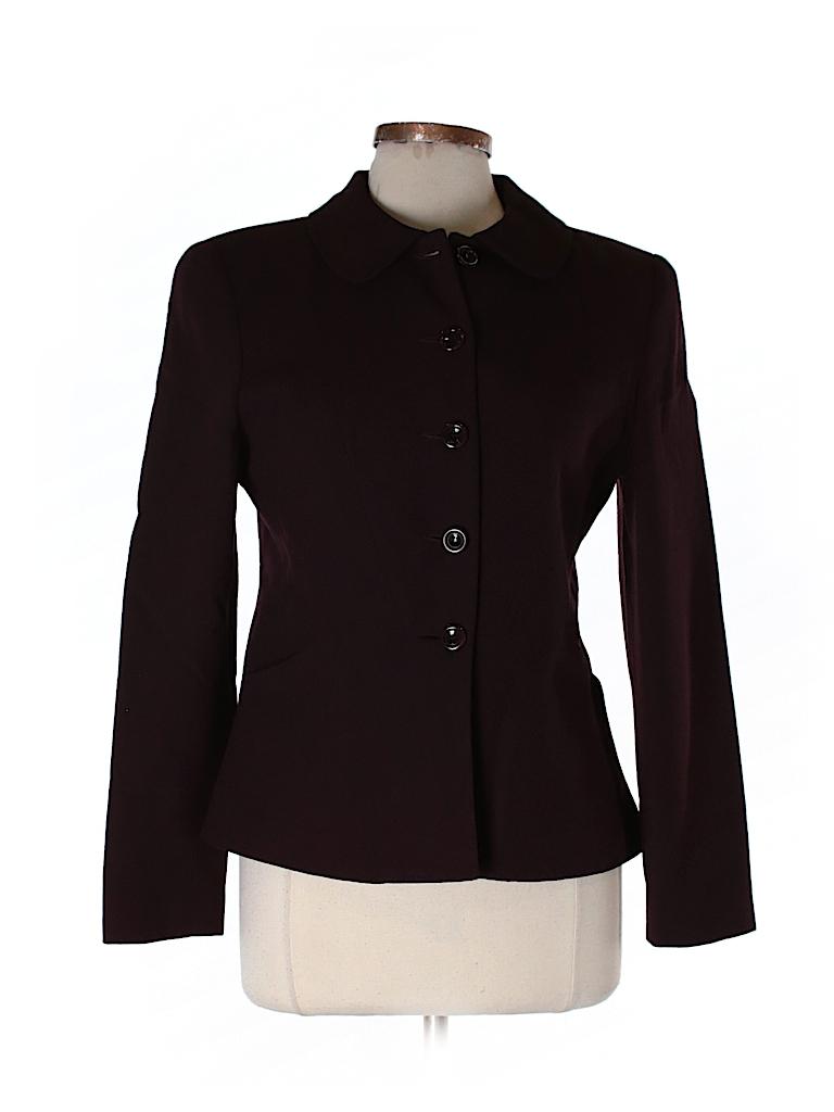 Carmen Marc Valvo Collection Women Wool Blazer Size 8