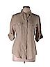 Banana Republic Women 3/4 Sleeve Button-Down Shirt Size M