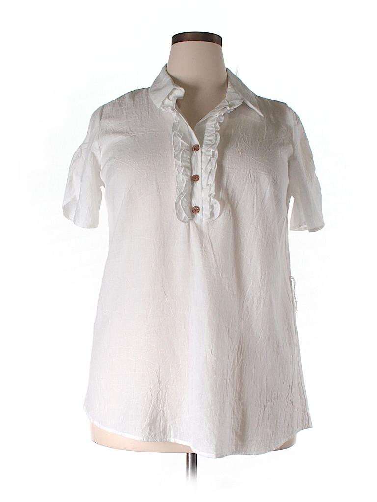 Lane Bryant Women Short Sleeve Blouse Size 14/16