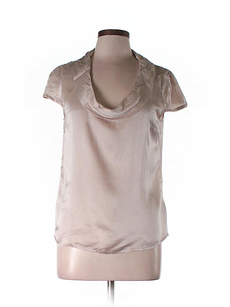 H&M Women Short Sleeve Silk Top Size 10