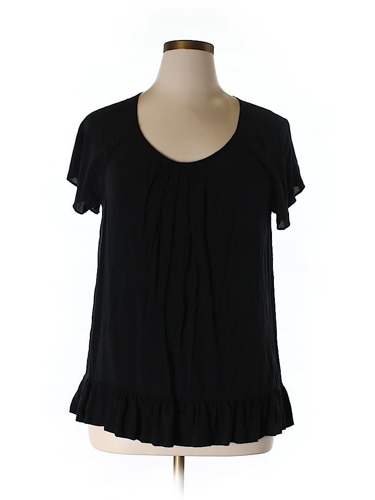 Gap Women Short Sleeve Blouse Size XL