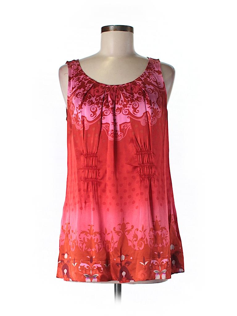 CAbi Women Sleeveless Silk Top Size M