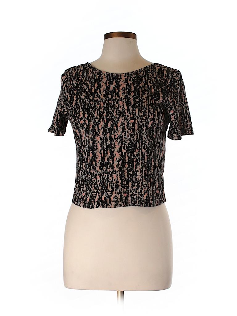 Theory Women Short Sleeve T-Shirt Size L
