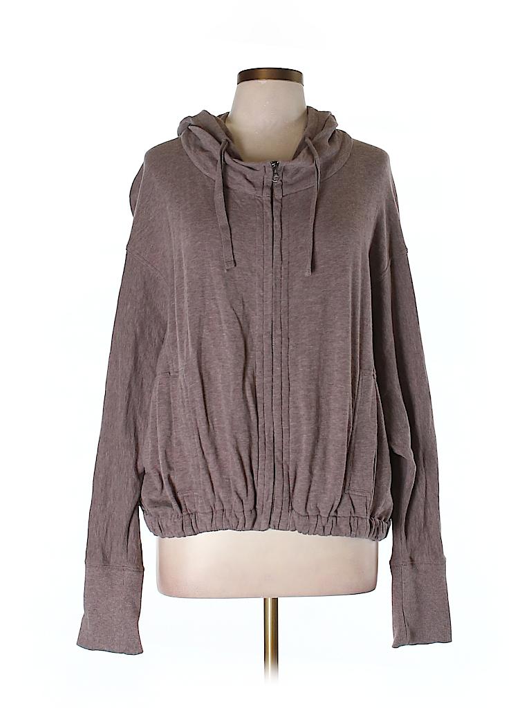Ann Taylor LOFT Women Zip Up Hoodie Size L