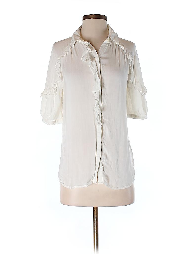 Ann Taylor LOFT Women 3/4 Sleeve Button-Down Shirt Size S