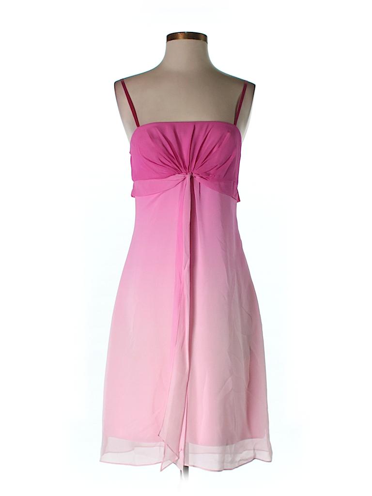 BCBGMAXAZRIA Women Silk Dress Size 4 (Petite)