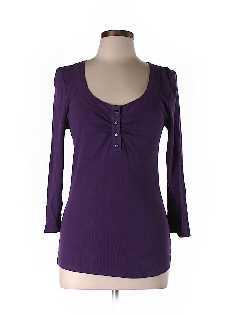 Emma & Sam Women 3/4 Sleeve Henley Size L