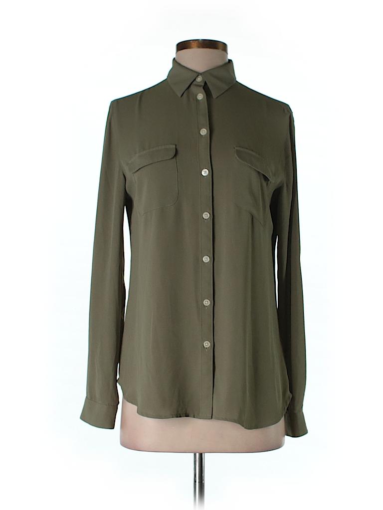 Ann Taylor LOFT Women Long Sleeve Button-Down Shirt Size S
