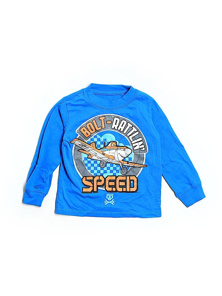 63599e2ee0e Disney 100% Cotton Graphic Blue Long Sleeve T-Shirt Size 4T - 64 ...