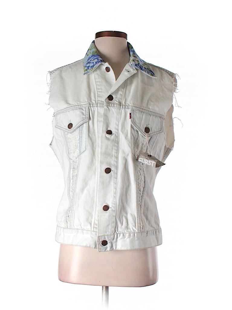 Furst of a Kind Women Denim Vest One Size