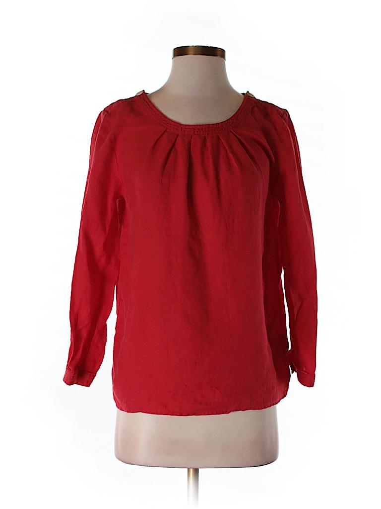 J. Crew Women 3/4 Sleeve Blouse Size 4