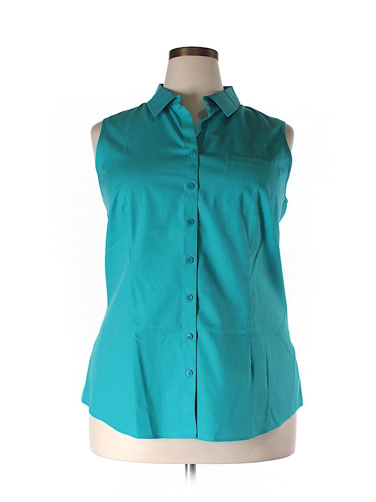 Coldwater creek sleeveless button down shirt 75 off for Sleeveless cotton button down shirts