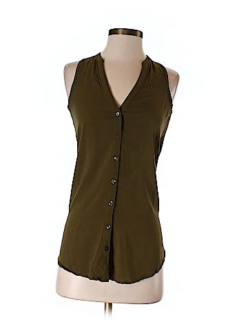 Maeve Sleeveless Button-Down Shirt Size 0