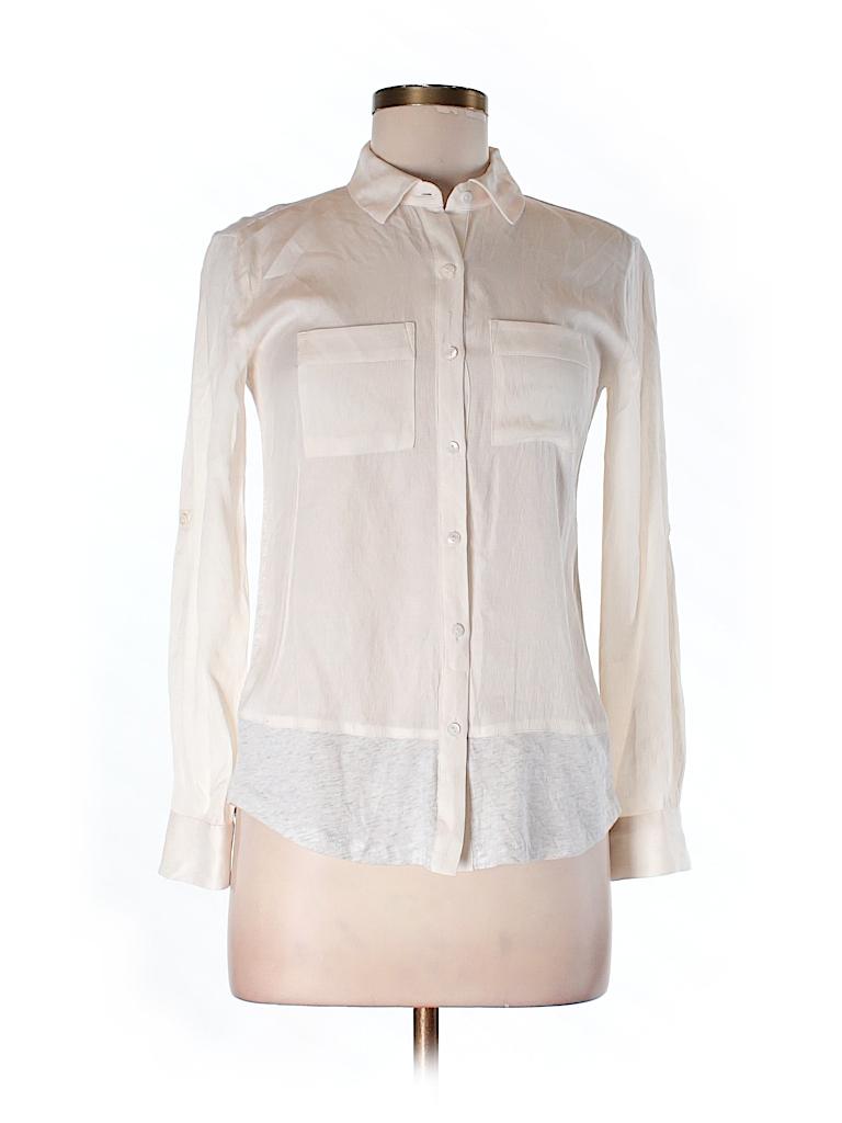 Ann Taylor LOFT Women Long Sleeve Button-Down Shirt Size XXS (Petite)