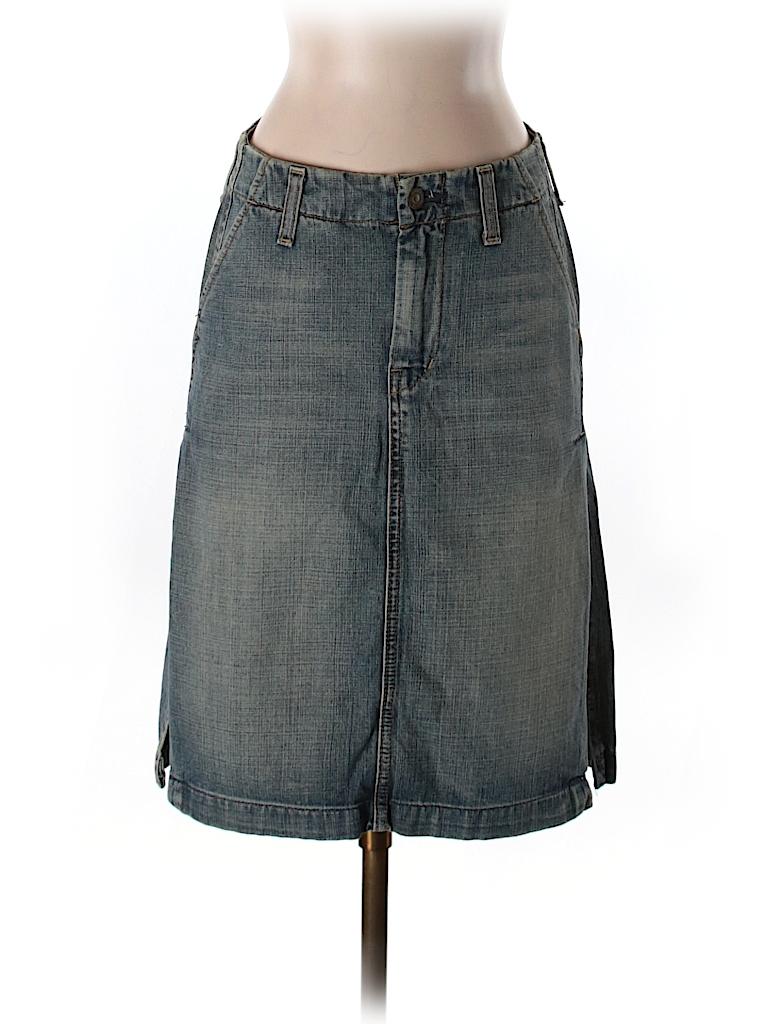 7 For All Mankind Women Denim Skirt 25 Waist