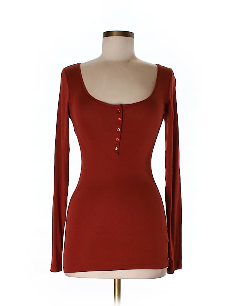 H&M Women Long Sleeve Henley Size S