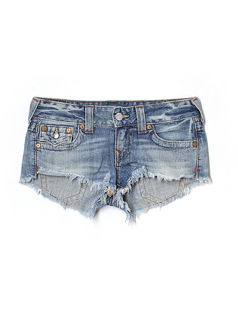 True Religion Women Denim Shorts 26 Waist