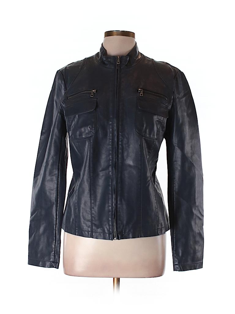 Ann Taylor LOFT Outlet Women Faux Leather Jacket Size 10