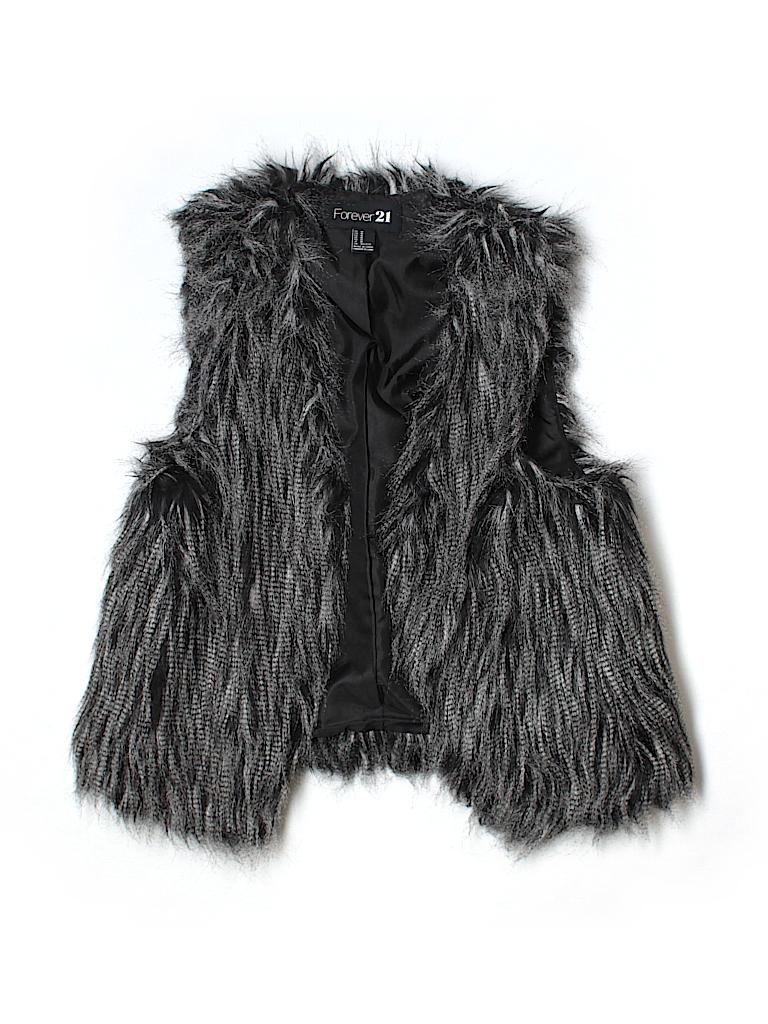 Forever 21 Women Faux Fur Vest Size M