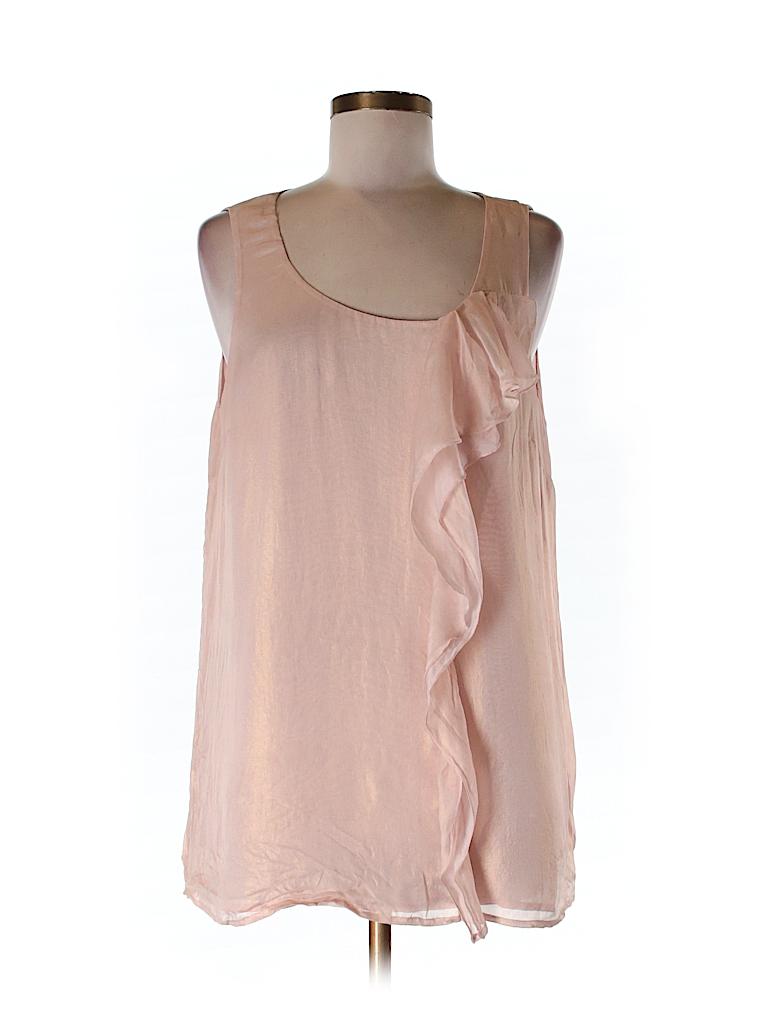 Ann Taylor LOFT Women Sleeveless Silk Top Size L