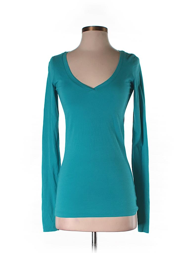 Theory Women Long Sleeve T-Shirt Size S