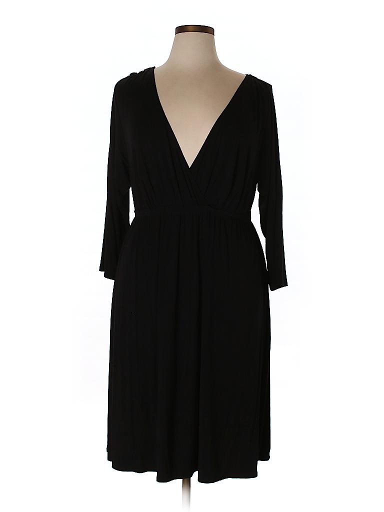 G.I.L.I. Women Casual Dress Size 1X (Plus)