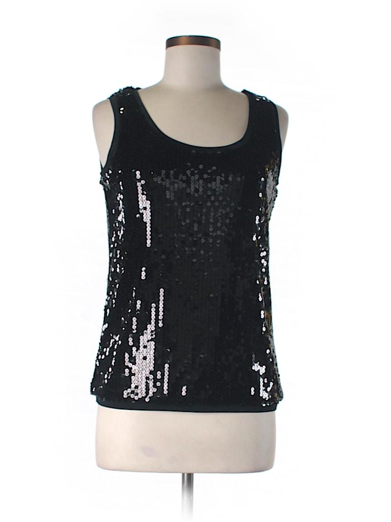 August Silk Women Sleeveless Blouse Size M