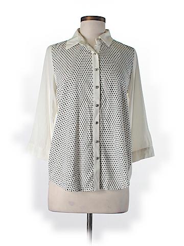 BESS 3/4 Sleeve Button-Down Shirt Size M